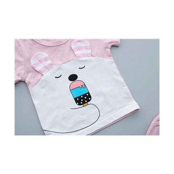 9684242c6f558 ... 子供服 男の子 半袖 2点セット Tシャツ パンツ ベビー服 キッズ 可愛い柄 保育園 幼稚園 ...