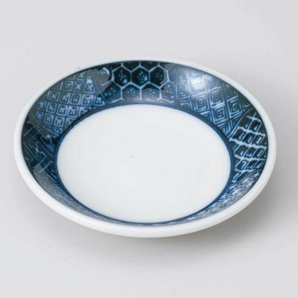 小皿 醤油皿/ 間取祥瑞玉渕2.8皿 /刺身 お新香 梅干し 珍味 陶器 業務用 家庭用 Small sized Plate