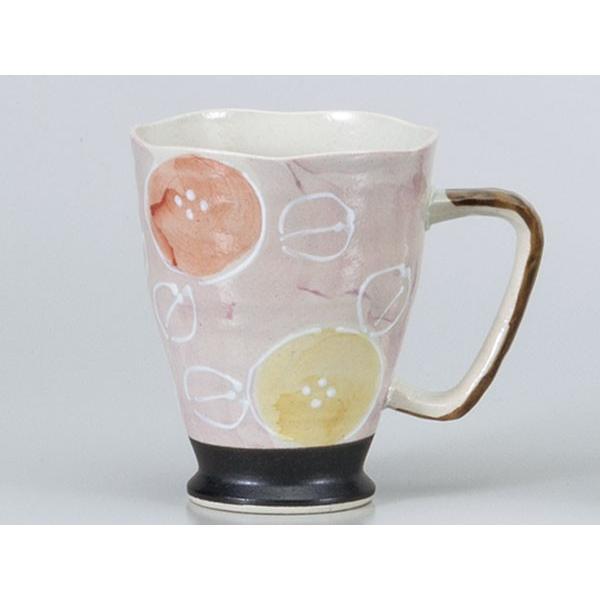酒器 ビールジョッキ/ 軽々柚子一珍花ジョキー 赤 /ビアジョッキ 陶器 泡立ち 業務用 家庭用 ギフト プレゼント 贈り物 Beer Mug