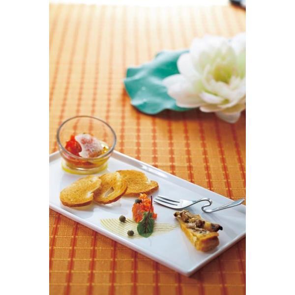 洋食器 モダン プレート/ 30×15フラット皿 /前菜 長角皿 スクエアプレート 業務用 レストラン 高級|duralex|02