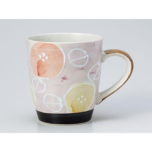 マグカップ おしゃれ/ 軽々柚子一珍花マグ 赤 /業務用 家庭用 コーヒー カフェ ギフト プレゼント 贈り物
