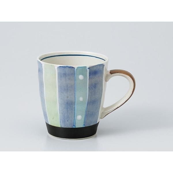 マグカップ おしゃれ/ 軽々柚子水玉トクサマグ青 /業務用 家庭用 コーヒー カフェ ギフト プレゼント 贈り物