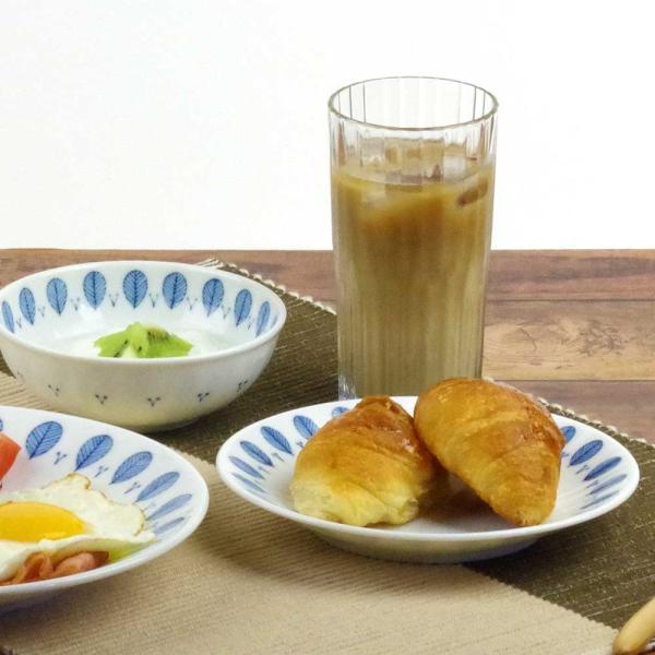 軽量 薄手 白磁 中皿/ ハーブミント5.0皿 直径16.8cm /食洗機OK 電子レンジOK 家庭用 業務用 ナチュラル食器 duralex