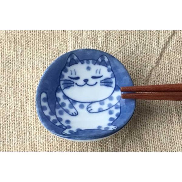 箸置き スプーンレスト/ ねこちぐら ブチ 箸置き /猫 ネコ 可愛い 家庭用 和み 癒やし /和食器 ポイント消化 duralex