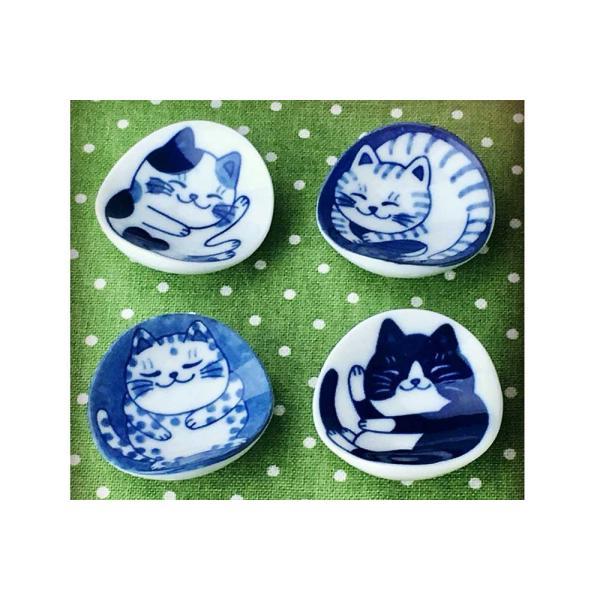 箸置き スプーンレスト/ ねこちぐら ブチ 箸置き /猫 ネコ 可愛い 家庭用 和み 癒やし /和食器 ポイント消化 duralex 07