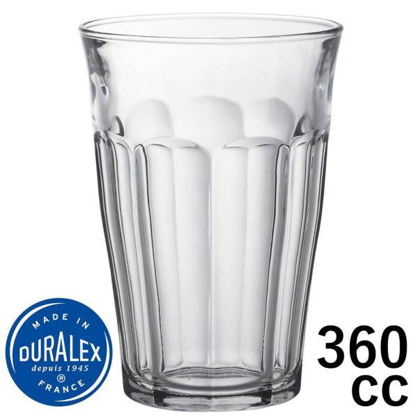 デュラレックス DURALEX/ ピカルディ 360cc /グラス タンブラー 業務用 家庭用 ホット カフェ おしゃれ ガラス コップ 強化 レンジOK 熱湯OK 割れにくい|duralex