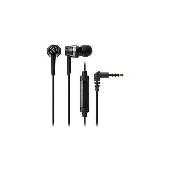 オーディオテクニカ スマートフォン専用ヘッドホン ATH-CKR30iS BK ブラックの画像