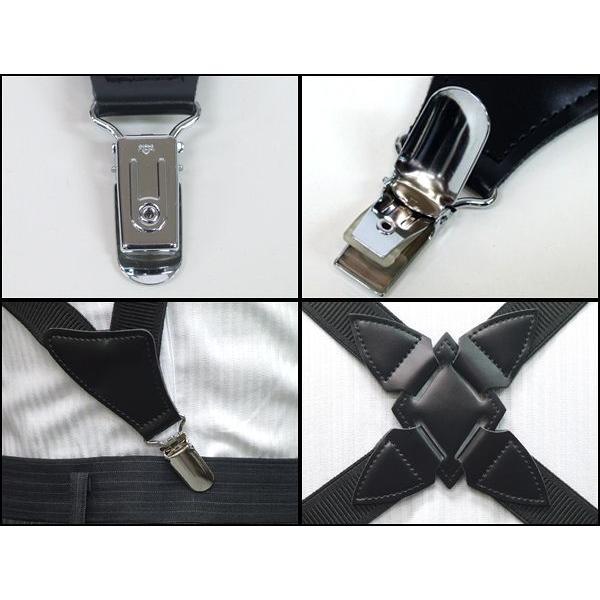 サスペンダー  ホルスター型日本製 ロング 黒×黒 ガンホルスター タイプ 長身 肥満体用|dxksm466|03