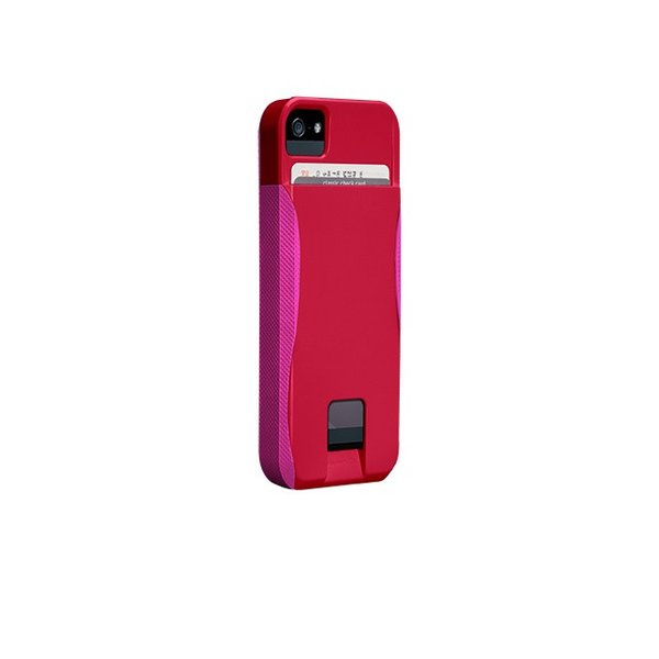 ICカード カード収納 iphoneSE iphone5s iphone5 ケース POP ID Case  Ruby Red /Shocking Pink ICカードが収納出来るケース case-mate ケースメート  あすつく|dyn