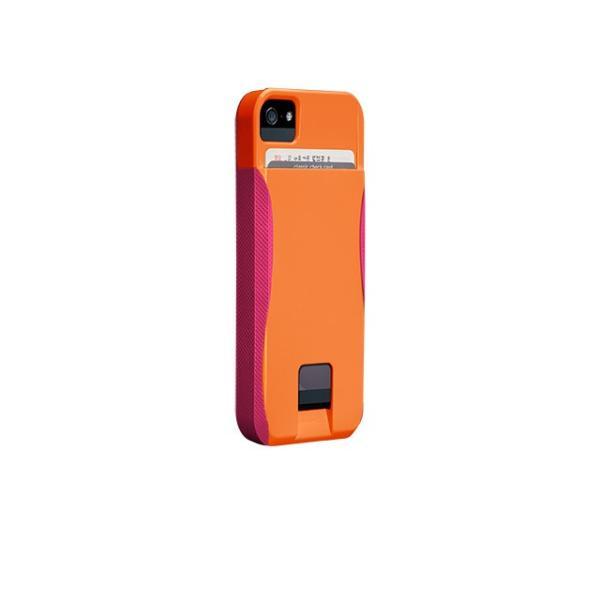 ICカード カード収納 iphoneSE iphone5s iphone5 ケース POP ID Case オレンジ ピンク ICカードが収納出来るケース case-mate ケースメート  あすつく|dyn