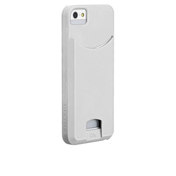 ICカード カード収納 Case-Mate iphoneSEケース iphone5sケース Case Matte Glossy White 改札機エラー防止シート付 case-mate ケースメート  あすつく dyn
