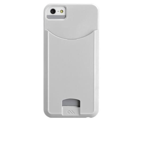 ICカード カード収納 Case-Mate iphoneSEケース iphone5sケース Case Matte Glossy White 改札機エラー防止シート付 case-mate ケースメート  あすつく dyn 05