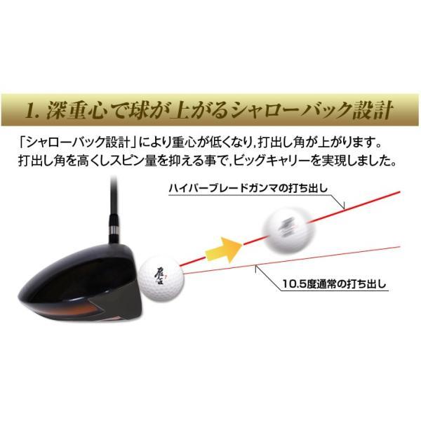 ゴルフ クラブ ドライバーハイパーブレードガンマ ブラックプレミアMax1.7 ノーマル飛匠シャフト仕様 dyna-golf 08