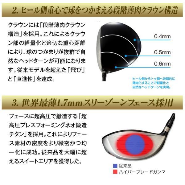 ゴルフ クラブ ドライバーハイパーブレードガンマ ブラックプレミアMax1.7 ノーマル飛匠シャフト仕様 dyna-golf 09