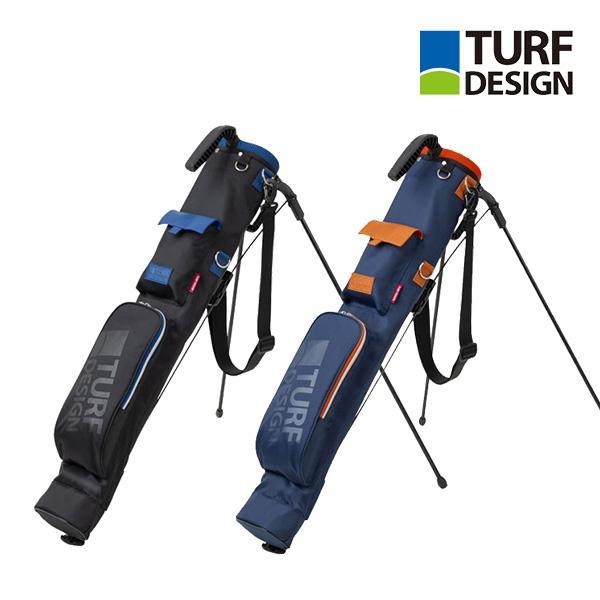 ゴルフ スタンドバッグ 小型 TURF DESIGN ターフデザイン ミニスタンドバッグ 朝日ゴルフ フードなし ネームプレート ショルダー