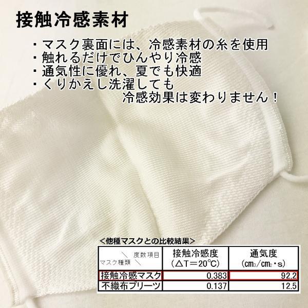 接触冷感マスク 日本製 涼しい 夏用 男女兼用 ひんやり 繰り返し洗える 速乾 立体マスク 冷たい ニットマスク  無縫製 dysun 02