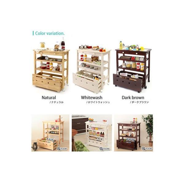 キッチンワゴン 収納 キッチン 人気 木製 キャスター付き タイルトップ クッキー e-alamode 02