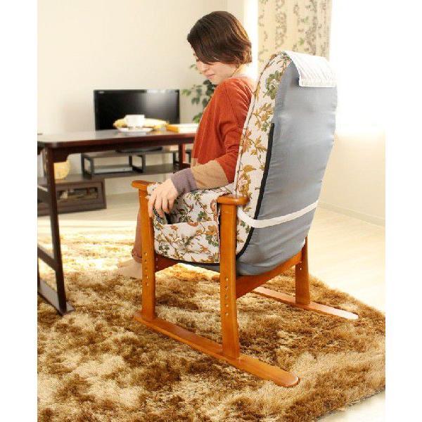 座椅子 椅子 チェア イス いす 高座椅子 リラックスチェア 敬老の日 プレゼント ポケットコイル ガス式無段階リクライニングチェア|e-alamode|05