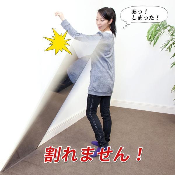 鏡 割れない鏡 ミラー 安全 軽量 姿見 全身鏡 鏡 ダンス用 防災ミラー 壁掛けミラー リフェクスミラー 80×150cm e-alamode 10