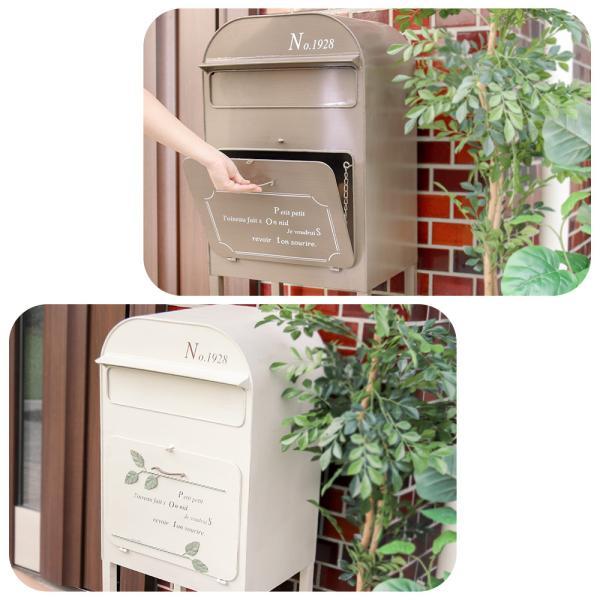 ポスト 郵便受け メールボックス 宅配ボックス スタンドポスト 置き型ポスト オリビア|e-alamode|02
