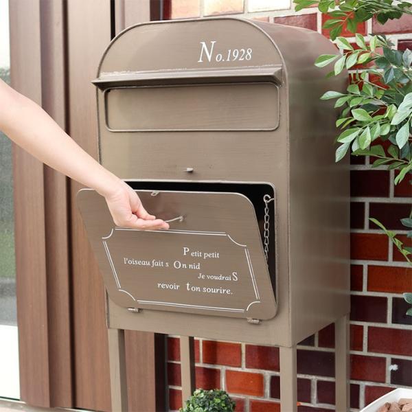 ポスト 郵便受け メールボックス 宅配ボックス スタンドポスト 置き型ポスト オリビア 組立品 e-alamode 06