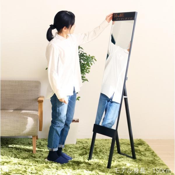ミラー スタンドミラー 姿見 全身鏡 鏡 姿見鏡 飛散防止加工 幅30cm アウル|e-alamode|03