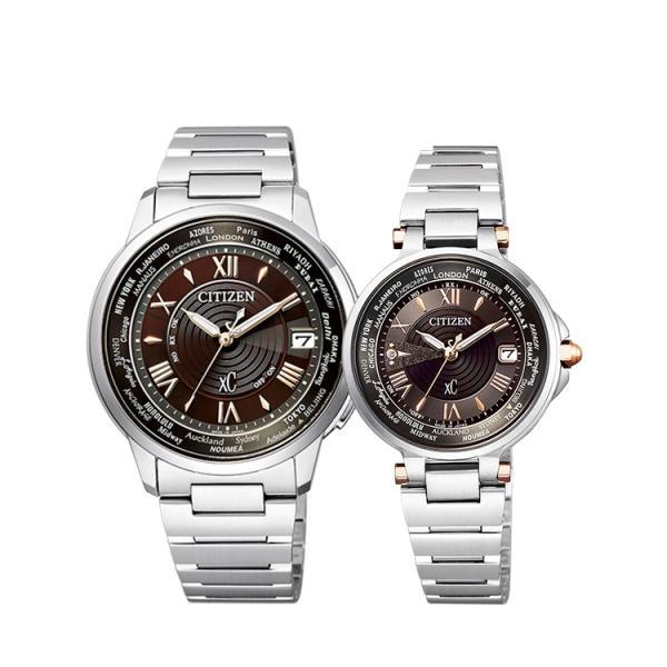 ペアウォッチ ペアセット xC クロスシー ペア 腕時計 ハッピーフライト 「ショコラケーキ」 電波ソーラー CB1020-71X/EC1010-90X シチズン CITIZEN SPAIR0111