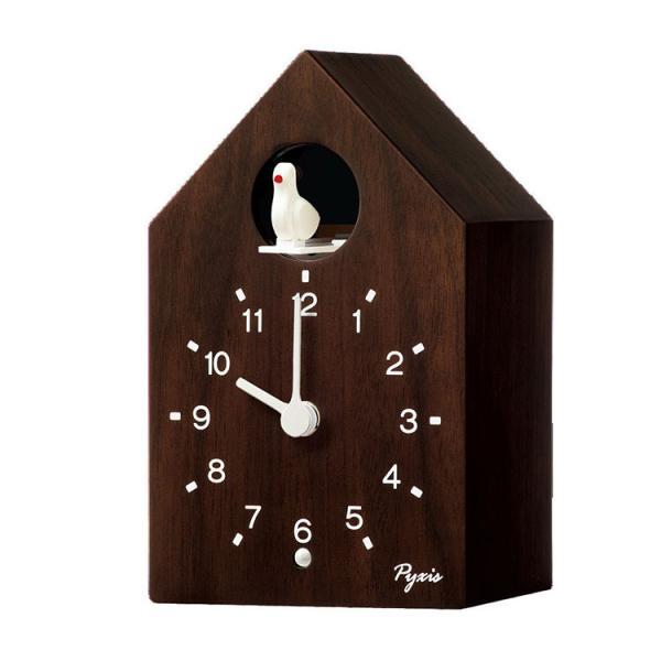 セイコー SEIKO カッコー時計 ハウス型 ウォルナット 鳩時計 掛け置き兼用 掛け時計 木製 メロディ ダークブラウン 茶色 NA609B 取り寄せ