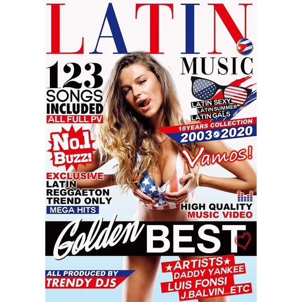 洋楽 DVD 123曲 3枚組 フルPV ラテンならコレで決まり LATIN MUSIC GOLDEN BEST - TRENDY DJS 3DVD