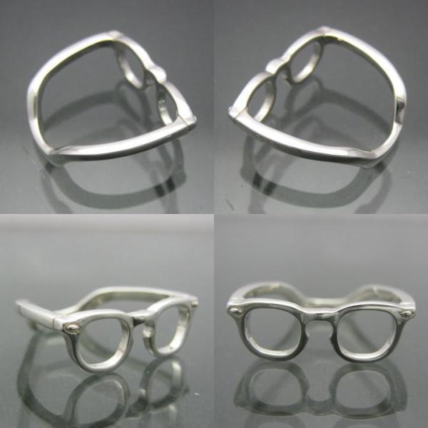 めがねのゆびわ メガネシルバーリング シルバー925 銀製 (眼鏡,サングラス)