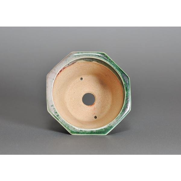 盆栽鉢 織部釉八角盆栽鉢 小品盆栽鉢 小さな盆栽鉢 h3689|e-bonsai|04