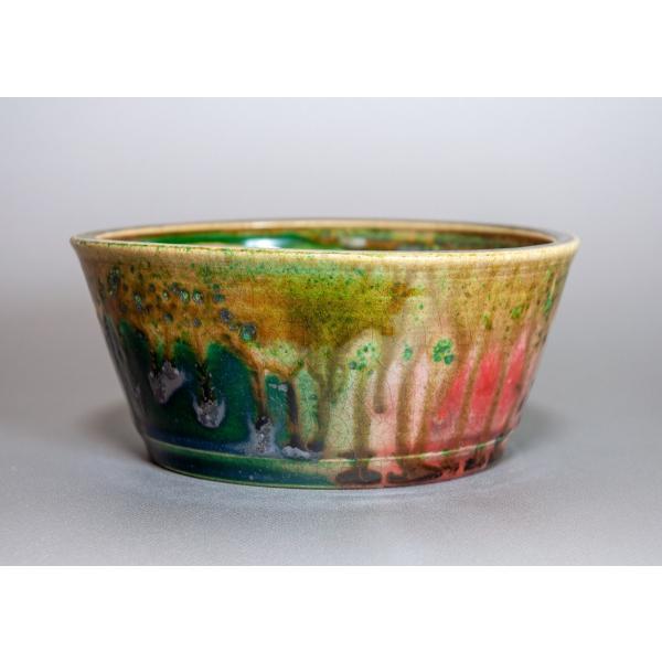 盆栽鉢 織部釉 丸盆栽鉢 小品盆栽鉢 正子鉢 p0115 e-bonsai 02