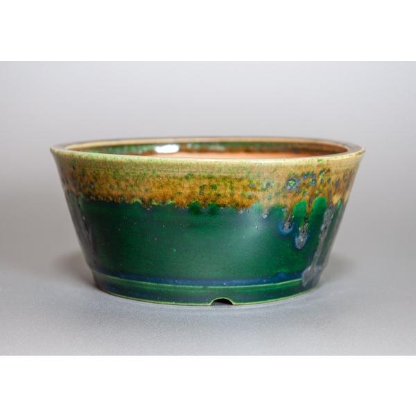 盆栽鉢 織部釉 丸盆栽鉢 小品盆栽鉢 正子鉢 p0115 e-bonsai 03