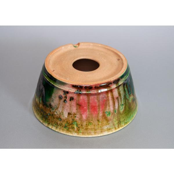 盆栽鉢 織部釉 丸盆栽鉢 小品盆栽鉢 正子鉢 p0115 e-bonsai 04