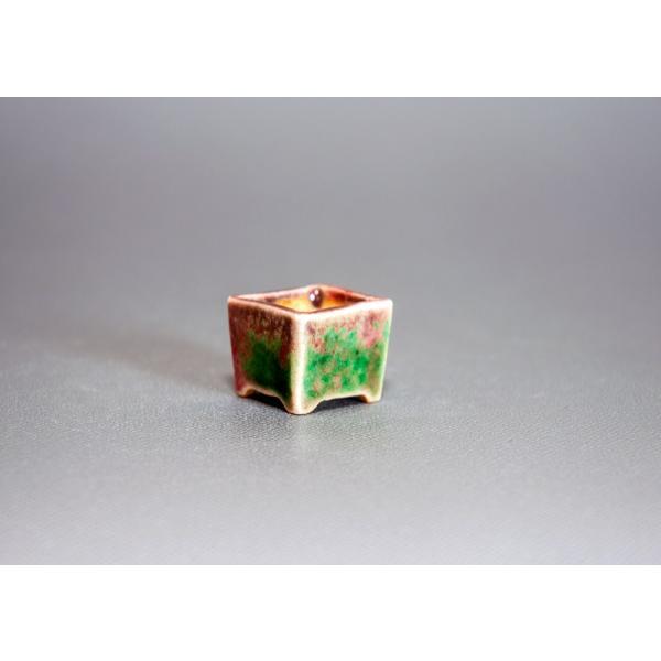 プチ盆栽鉢 織部釉 正方盆栽鉢 小鉢 小さい鉢 p0143|e-bonsai|03