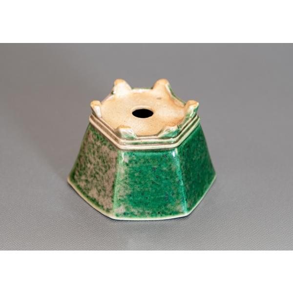 ミニ盆栽鉢 織部釉六角盆栽鉢 小さな盆栽鉢 p0167 e-bonsai 03