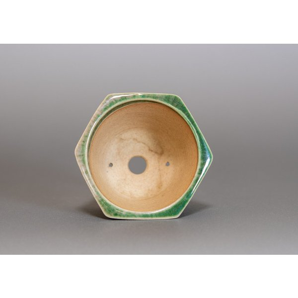 ミニ盆栽鉢 織部釉六角盆栽鉢 小さな盆栽鉢 p0167 e-bonsai 04
