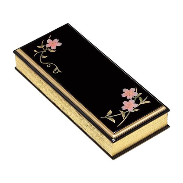 仏具・上蒔絵過去帳 桜唐草(日付無/4.0寸)【メーカー取寄品】
