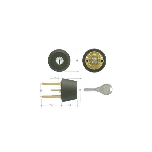 GOAL ゴール V18シリンダー TXタイプ 鍵 交換 取替えテール刻印43 GCY-257 TX/TDD