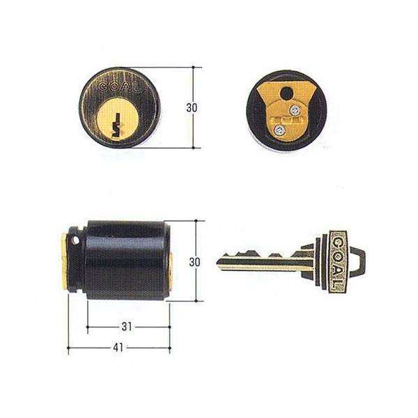 GOAL ゴール ピンシリンダー 装飾錠パルテノン用 PSタイプ 大カム仕様 GCY-66  玄関 鍵 交換 取替えパルテノン PS GCY66