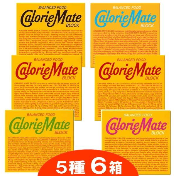 お試し★カロリーメイトブロック プレーン2個、チーズ・フルーツ・チョコ・メープル各1個 計6個セット 『ネコポス送料無料』