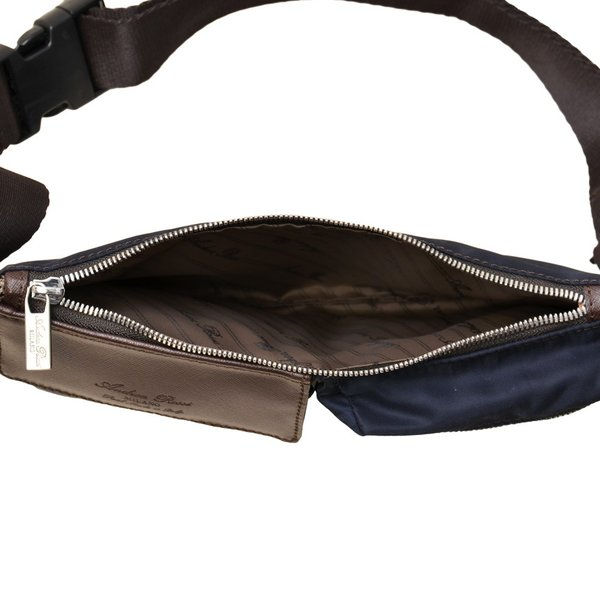 アンドレアロッシ ウエストバッグ ANDREA ROSSI NYSF1550 ブラック×ブラック/ネイビー×ダークブラウン Tempo Libero