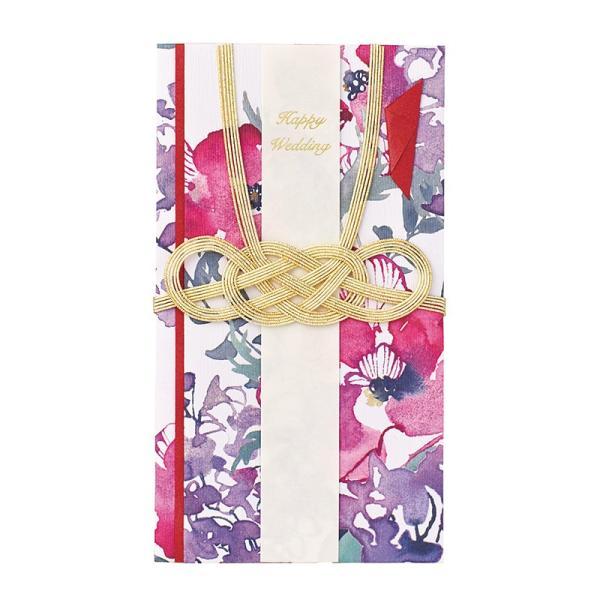 ご祝儀袋 「Le bouquet (ルブーケ) アネモネ レッド」 おしゃれ かわいい 花柄 のし袋 金封 結婚祝い 【ゆうパケットA選択可】