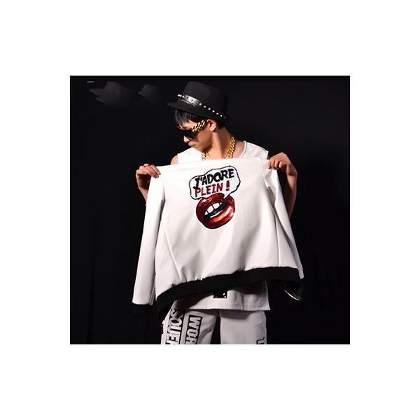 b系 メンズ ダンス衣装 コート 細身 男性用 演出服 練習着|e-dance|03