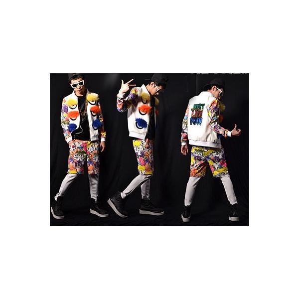 b系 メンズ ダンス衣装 コート 細身 男性用 演出服 練習着|e-dance|02