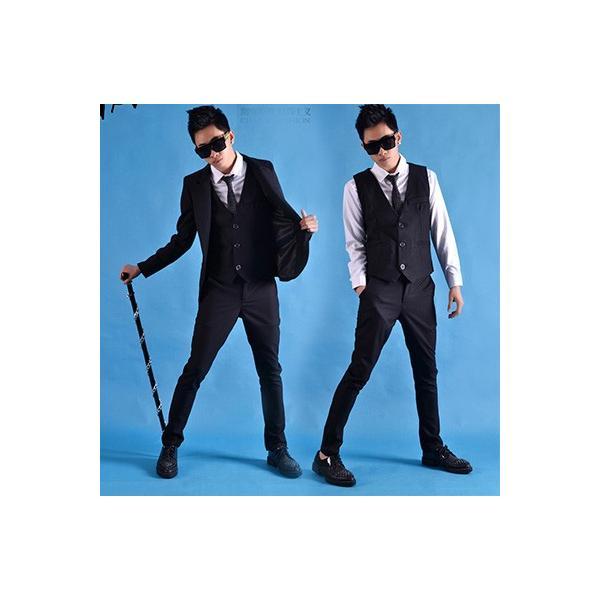 b系 メンズ ダンス衣装 三セット 細身 男性用 演出服 練習着|e-dance|03