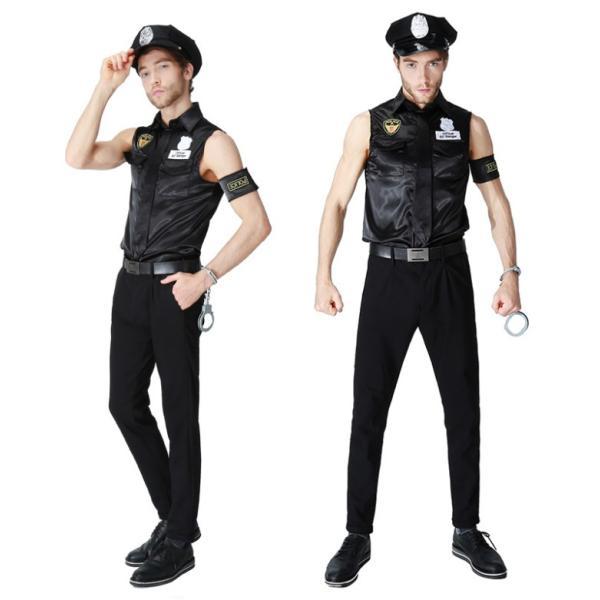 ハロウィン コスプレ 警察  警官 仮装 制服 メンズ クリスマス イベント パーティーグッズ|e-dance