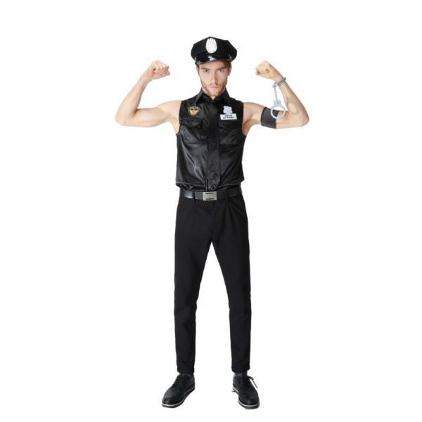 ハロウィン コスプレ 警察  警官 仮装 制服 メンズ クリスマス イベント パーティーグッズ|e-dance|03