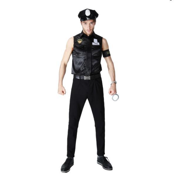 ハロウィン コスプレ 警察  警官 仮装 制服 メンズ クリスマス イベント パーティーグッズ|e-dance|04