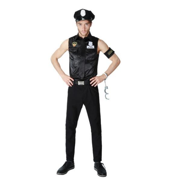ハロウィン コスプレ 警察  警官 仮装 制服 メンズ クリスマス イベント パーティーグッズ|e-dance|05